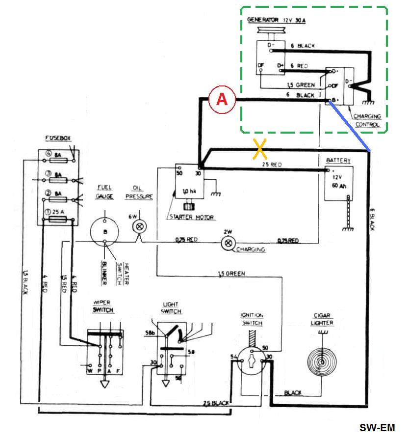 Amp Wiring Diagram : Auto amp meter wiring diagram images