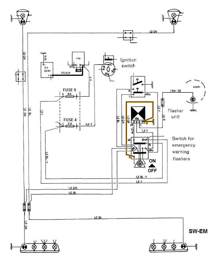 sho me flasher wiring diagram sw em blinker relay or element  sw em blinker relay or element
