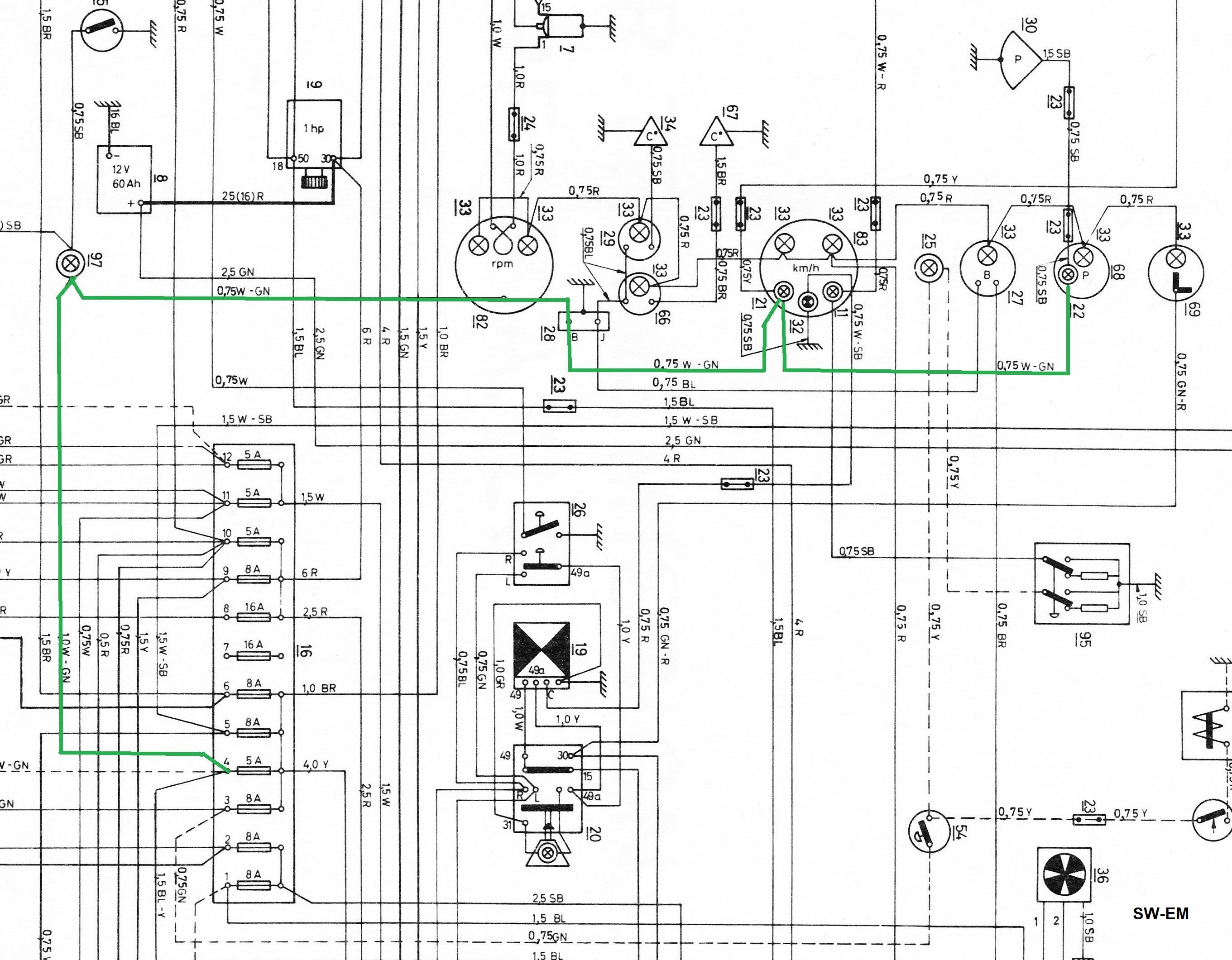 sw em service notes motorola tachometer wiring diagram