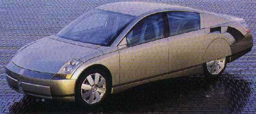 The GM Precept concept car ...someone has obviously been spiking the coffee at the GM design center with toxic waste.