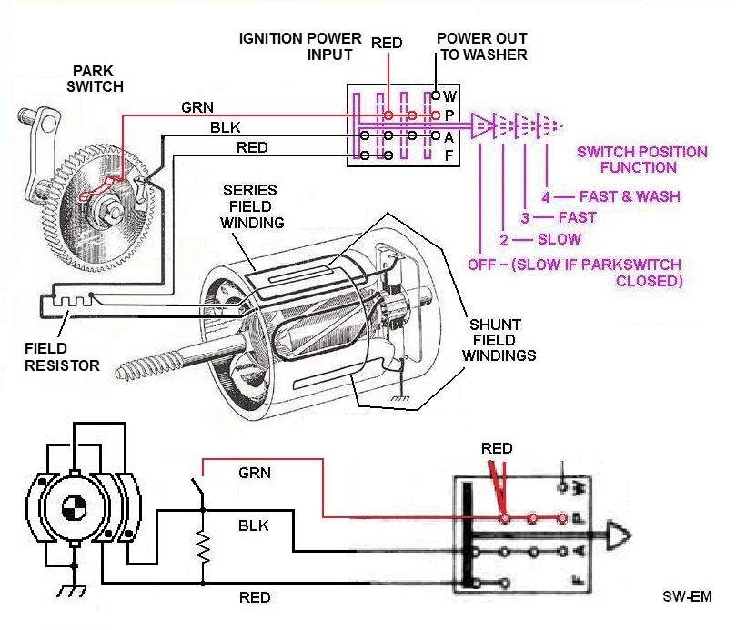 Wiring Diagram Bosch Wiper Motor : Sw em windshield wiper systems