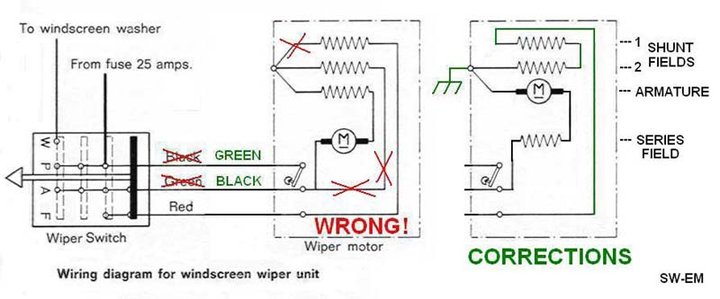 wiper_wiring_122_1800 wiring diagram wiper motor marker light wiring diagram \u2022 free denso wiper motor wiring diagram at mifinder.co