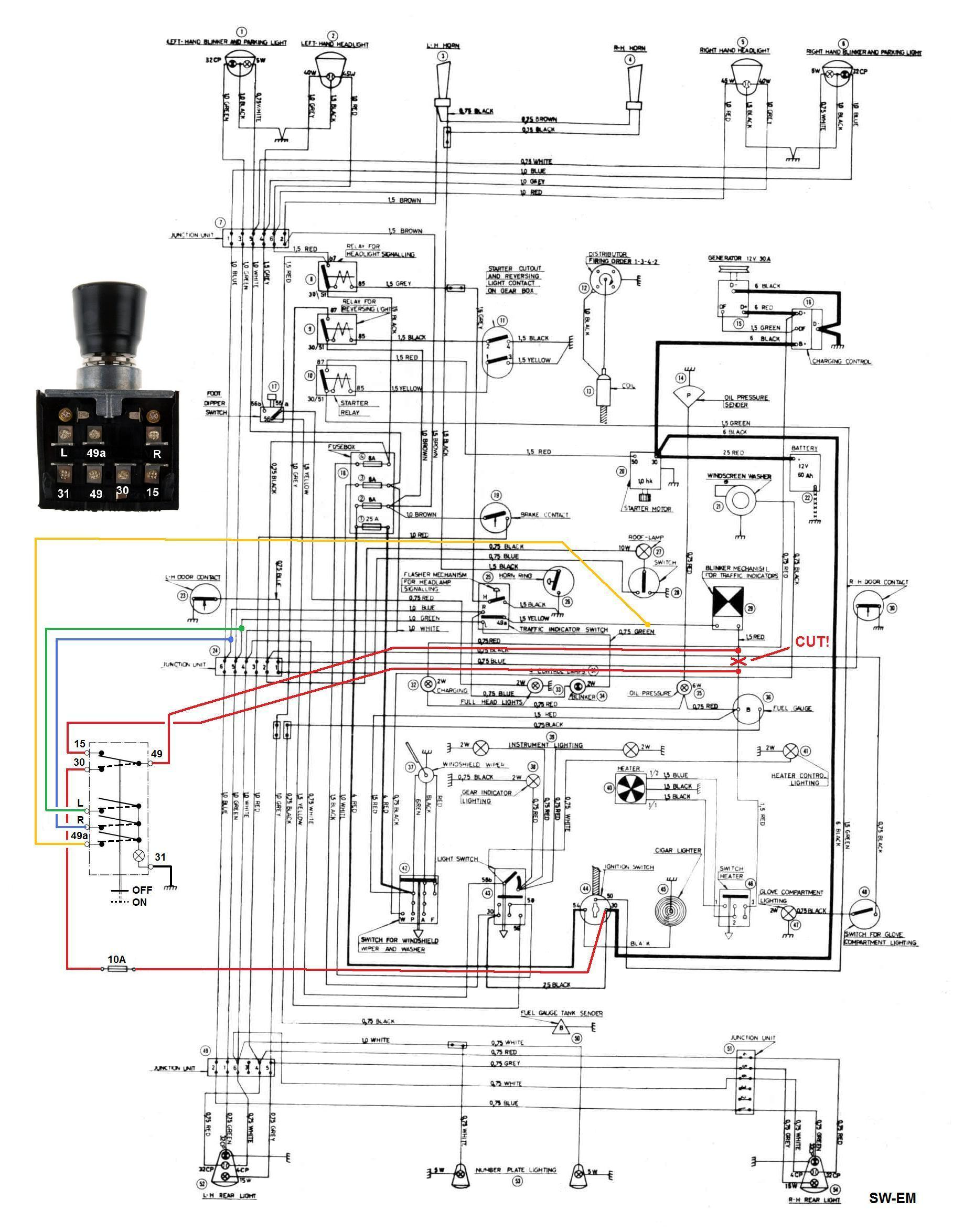 Sw Em Emergency Flasher Germany Wiring Diagrams