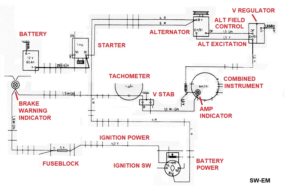 Sw Em Service Notes 122s Wiring Diagram 1800e Charging System Excerpt