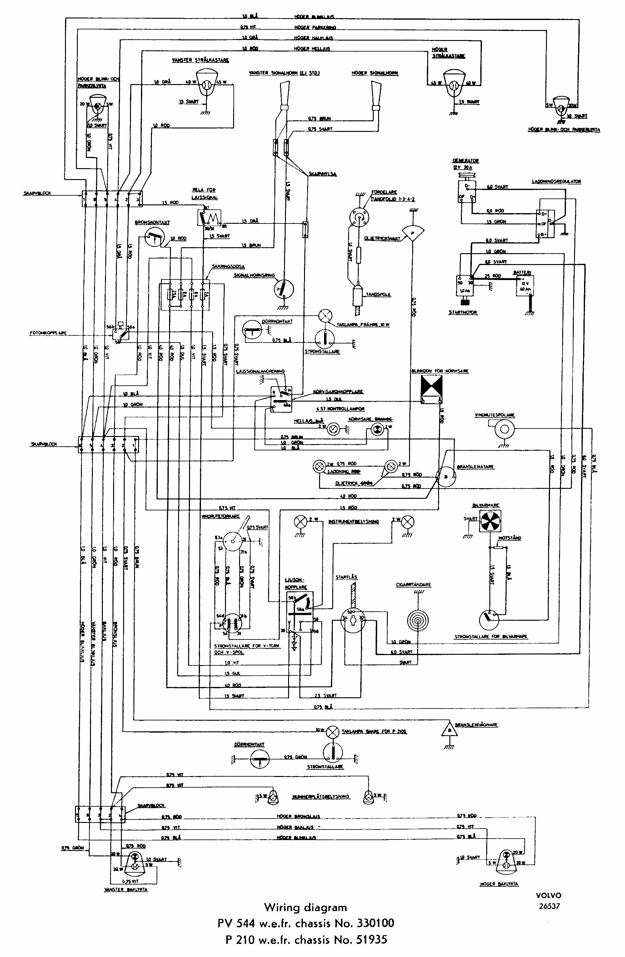 Volvo N10 Wiring Diagram Schematics C70 Stereo 960 Page 5 And Diagrams 121 1966