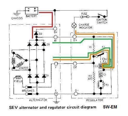 SW-EM 123GT Charging System Notes | Volvo Motorola Alternator External Regulator Wiring Diagram |  | Sw-Em